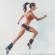 Active sporty young running woman runner athlete with copy space side view concept sport health fitness loss weight cardio training jog workout wellness