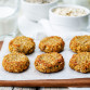 oats pumpkin and sunflower seeds banana cookies. gluten-free. toning. selective focus