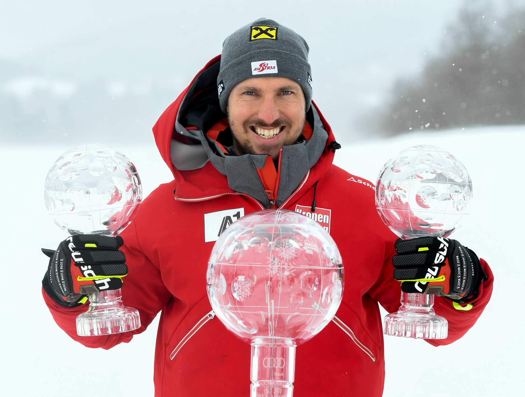Marcel Hirscher during the Race for the Overall World Cup in Are on March 08i