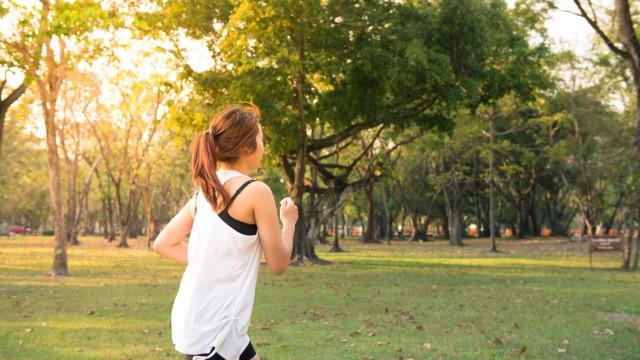 bieganie w parku