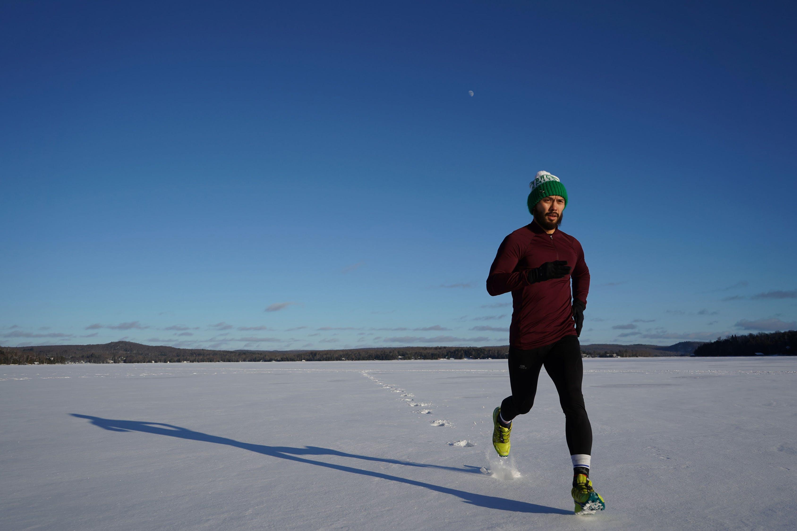 bieg w śniegu